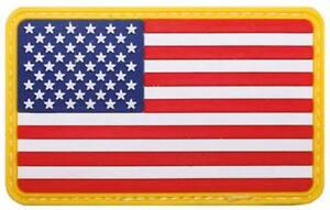 Parche-bandera-3D-caucho-USA-Goma-bandera-americana-con-cinta-marca-VELCRO