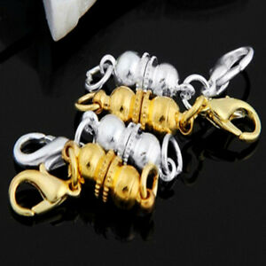Silver-Gold-Ball-Magnetic-Clasp-Hook-for-DIY-Bracelet-Necklace-Jewelry-Finding