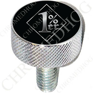 Show Chrome - Billet Aluminum LG Knurled Seat Bolt for 96-17 Harley - 1% ER BDBS