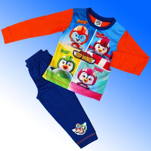 Garçons Officiel Véritable Team Top Wing Pyjamas Planes Âge 2 3 4 5 ans