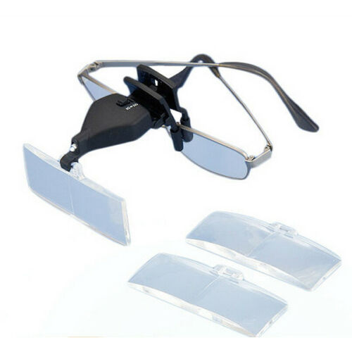 5 X 2,5 X 3,5 X LED Lampe Eye Lunettes Low Vision Clip Grossissante MG19157-2 1