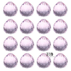 10PCS-Pink-Chandelier-Crystal-Clear-Ball-Prism-Suncatcher-Feng-Shui-Pendant-20mm