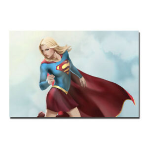 Comic Supergirl Artwork Canvas Poster Print 12x18 24x36/'/'