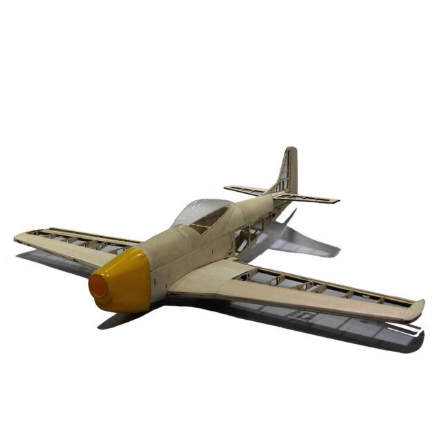 Mustang P51 1000mm Wingspan Balsa Wood Warbird RC Airplane Kit