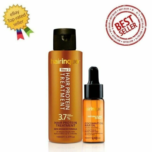 Hairinque 3 7 24k Gold Therapy Brazilian Keratin Hair Protein Coconut Treatment For Sale Online Ebay