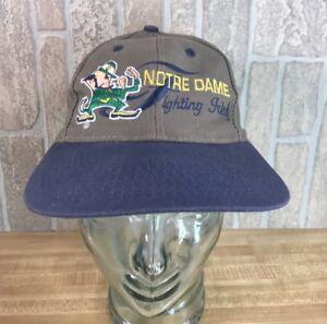 712a1f02 90s Logo 7 University of NOTRE DAME Fighting Irish Snapback Hat ...