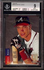 1993-Upper-Deck-SP-Foil-280-Chipper-Jones-HOF-Atlanta-Braves-BGS-9-Mint-HOF