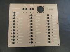 "MAXUM 12V DC BLANK BREAKER PANEL ALUMINUM TAN 14 1/2"" X 12 7/8"" MARINE BOAT"