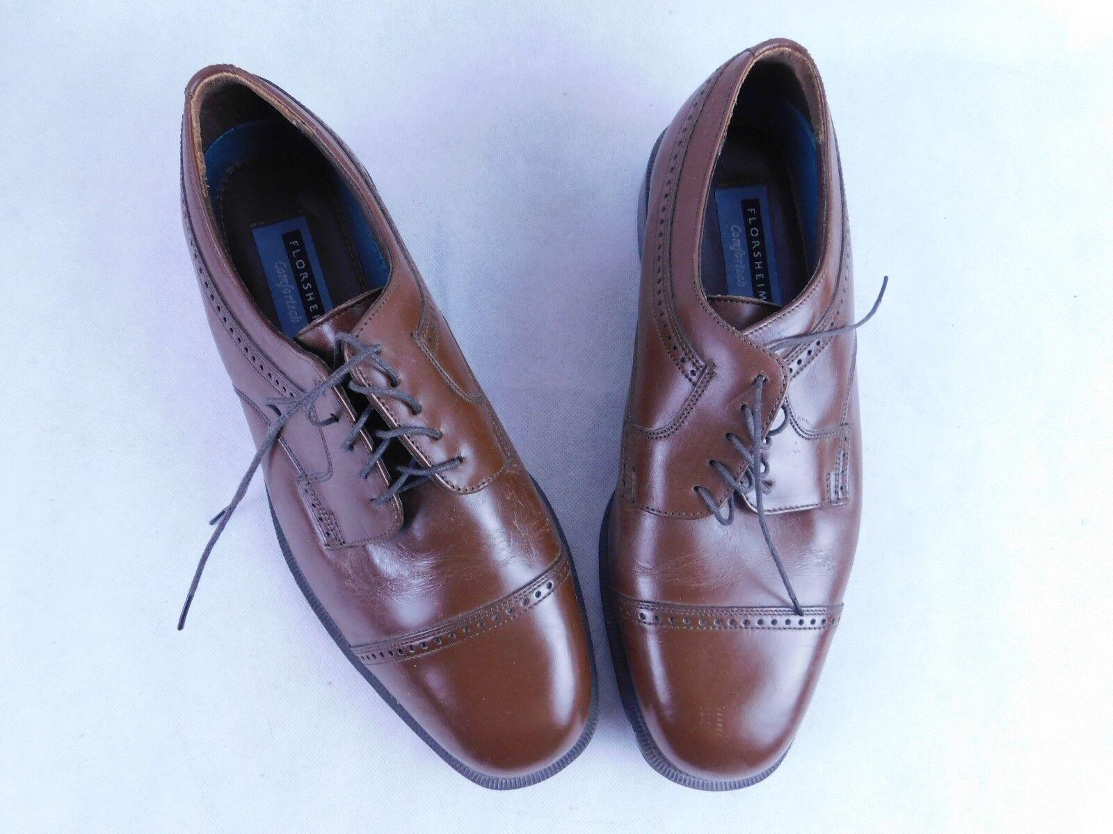 Florsheim Dress Oxford 21003 Shoes Toe Cap Brown 21003 Oxford Comfortech Size 10 892dd3