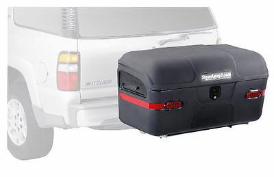StowAway Max Hitch Mount Cargo Carrier Box w/ SwingAway Frame - Black