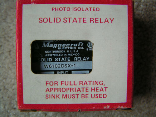 Magnecraft #W6102DSX-1 Solid State Relay 120 Volts NEW!!! in Box Free Shipping