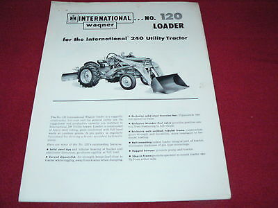 International Harvester Wagner No.100 Loader for 140 Tractor Dealer/'s Brochure