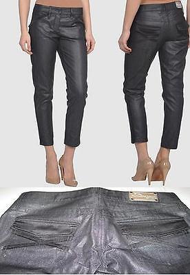 orologio super carino negozio di sconto Germano Zama Pantaloni Calzoni Jeans skinny slim Hose neri glam Tg ...