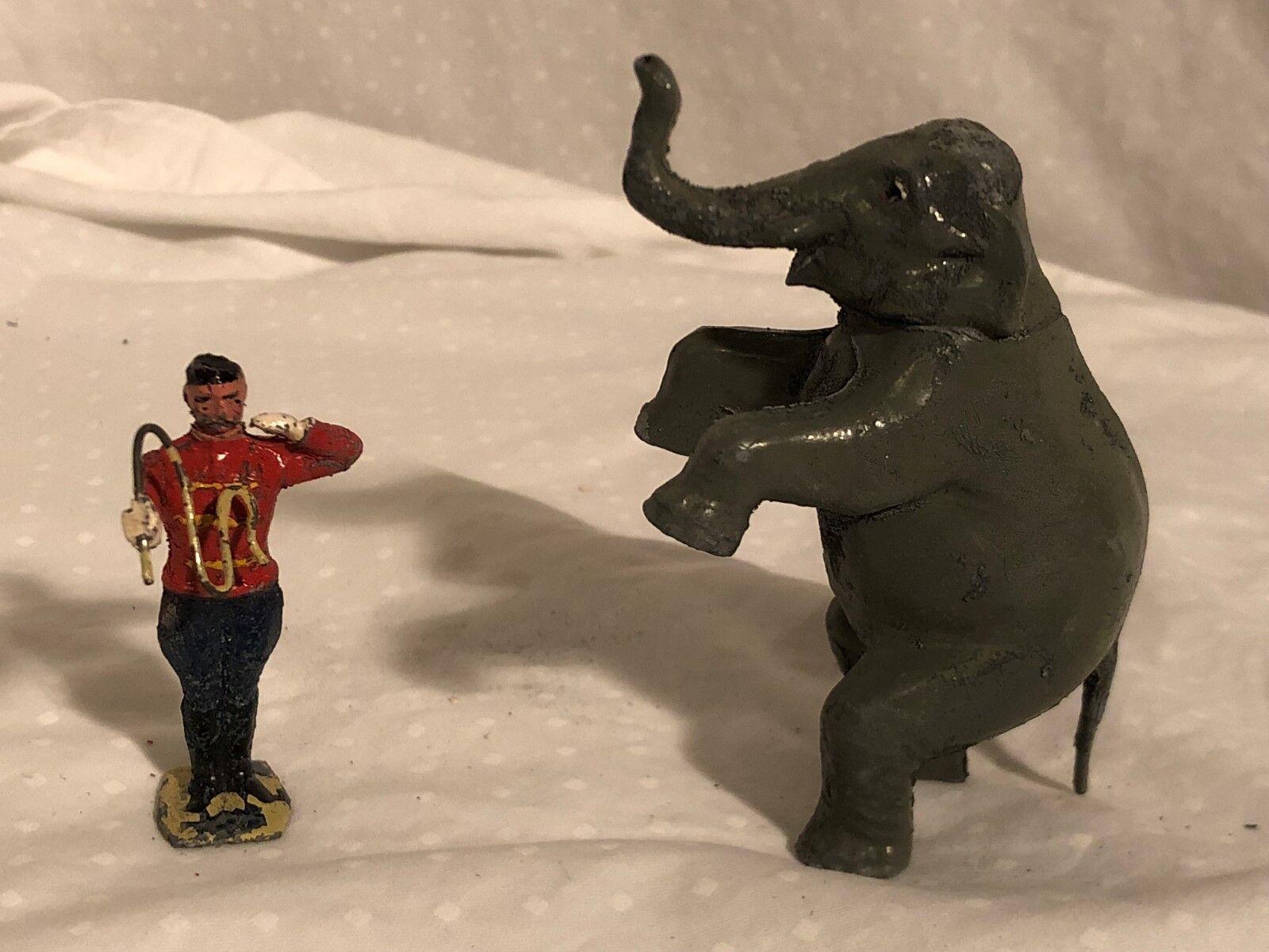 1950s Britains Mammoth Circus Elephant and Trainer Original