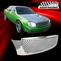 2000-2005 Diamond Mesh Grill Style Chrome Abs Grille For Cadillac Deville