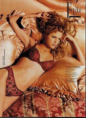 2001 FELINA Sexy Woman Lingerie Bra & Panty Magazine Print Ad ** | eBay