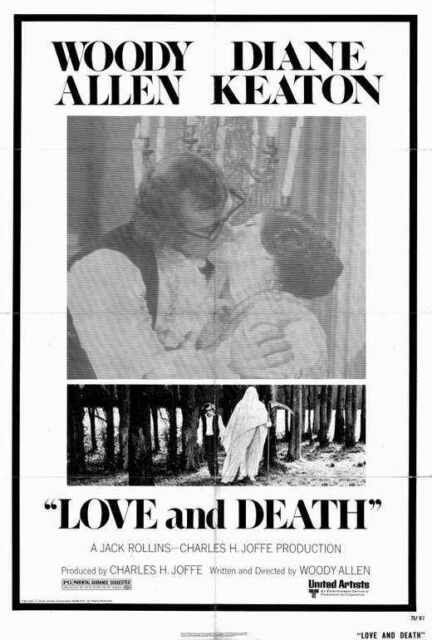 WOODY ALLEN DIANE KEATON Love /& Death Movie Poster ROMANTIC COMEDY 24X36
