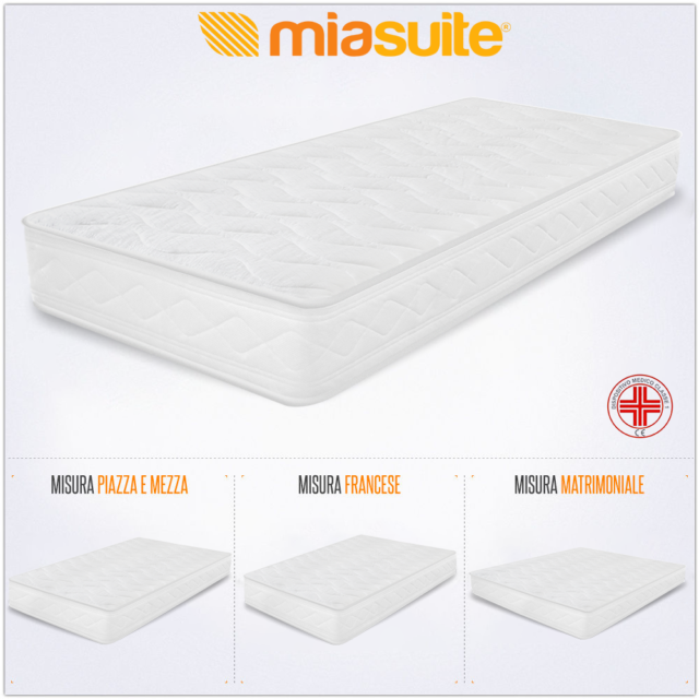 MiaSuite Smart 200x90x18 cm Materasso Singolo in Water Foam