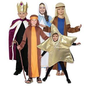 Image is loading Kids-Boys-Girls-Christmas-Nativity-School-Play-Biblical-  sc 1 st  eBay & Kids Boys Girls Christmas Nativity School Play Biblical Fancy Dress ...