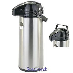 3 liter pumpkanne thermoskanne isolierkanne kaffeespender iso kanne kaffee ebay. Black Bedroom Furniture Sets. Home Design Ideas