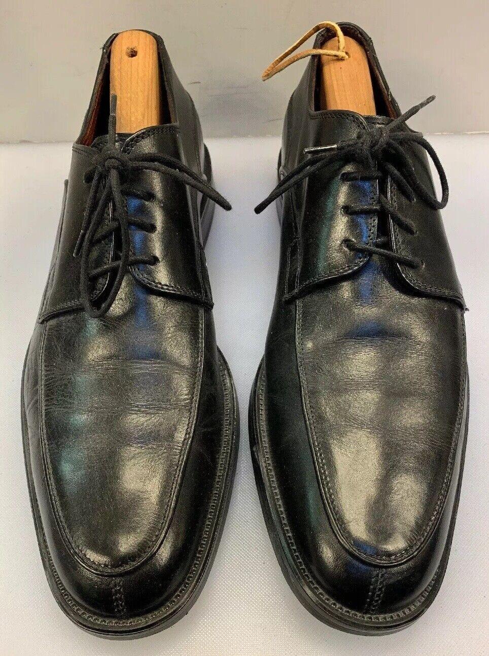 Johnston & Murphy Men 9 M Split Toe Oxfords Black Leather  Made 20 9370