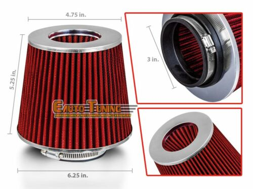 """3/"""" Cold Air Intake Filter Universal RED For Tacoma//Sienna//Solara//Starlet//Stout"""
