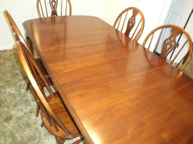 Vintage Pennsylvania House Solid Cherry Dining Table W 6 Chairs Late 1970s For Sale Online