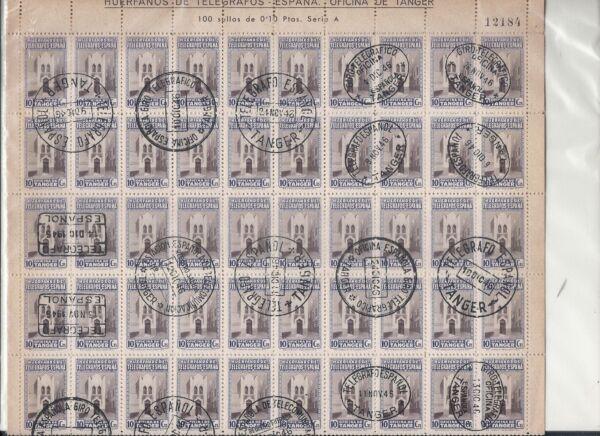 Amical EspaÑa ( TÁnger - Marruecos) .año 1946 .beneficencia. Fabrication Habile