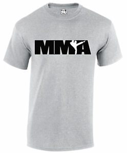 MMA-Logo-Design-T-Shirt-Mixed-Martial-Arts-Mens-UFC-Cage-Fighter-Tee-T-shirt