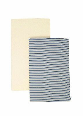 DK GOTS Organic Cotton Fitted Blue Stripe//Cream Next to Me 83x50cm Sheets
