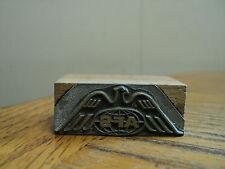 Vintage Afs Tea Printing Press Ink Stamp Block Printing Tool Copper Wood