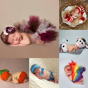 Newborn-Baby-Girl-Boy-Crochet-Knit-Costume-Photo-Photography-Prop-Hats-Outfits