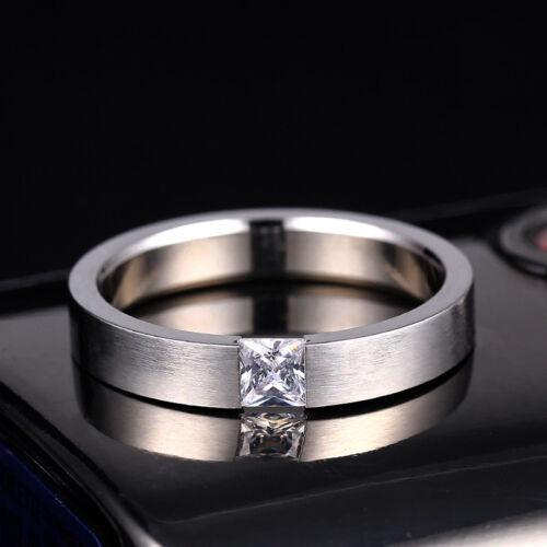 sehr eleganter Ring aus Edelstahl mit Zirkonia edel stylisch cool Ehering 4 mm