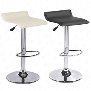 Awesome Details About Set Of 2 Counter Height Chrome Base Bar Stools Dinning Kitchen Chair Blackcream Pabps2019 Chair Design Images Pabps2019Com