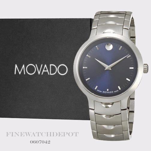 Movado Men S Swiss Luno Stainless Steel Bracelet Watch 40mm 0607042 Ebay