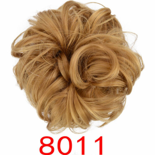 Curly Messy Bun Hair Piece Scrunchie Chignon Hair Extensions Real as human BY