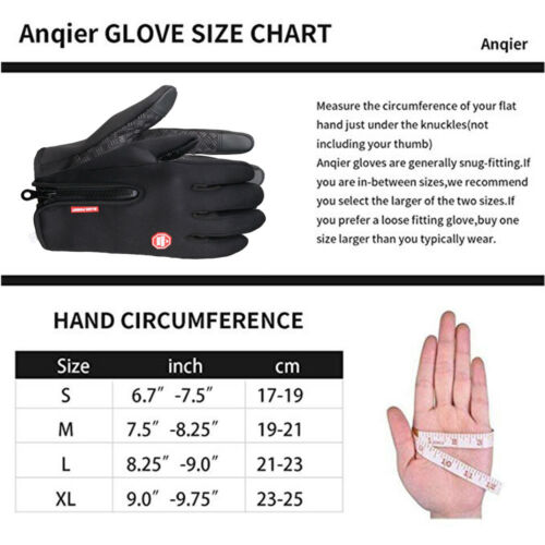Soft /& Comfortable Winter Warm Thick Gloves for Driving Riding Anti-slip Design