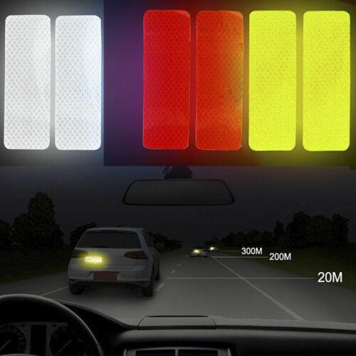 4x Auto Reflexstreifen Warnung Mark Tür Autoaufkleber Reflektor Band/_prPZW