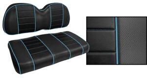 Tremendous Details About Golf Cart Seat Covers Custom Black Light Blue Piping Club Car Ezgo Yamaha Ibusinesslaw Wood Chair Design Ideas Ibusinesslaworg