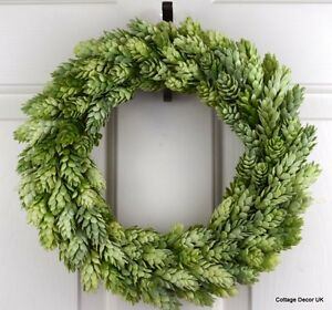 Shabby Chic Artificial Hops Wreath Handmade Cottage Decor Home