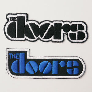 THE-DOORS-Patch-SET-OF-TWO-Embroidered-Iron-On-Patches-UK-FREE-POST