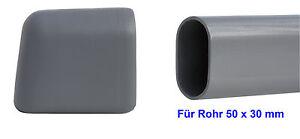 Moebel-Kunststoff-Gleiter-Tischgleiter-Fusskappe-Gleitkappe-Casala-Oval-Rohr50x30