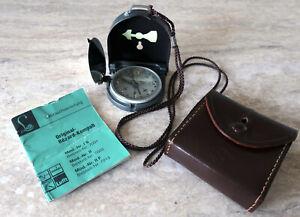 Original Bezard Kompass Lufft mit Anleitung und Leder Tasche