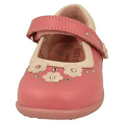 Startrite 'Allium' niña MEDIANO ROSA CUERO Floral Informal infantil Zapatos F