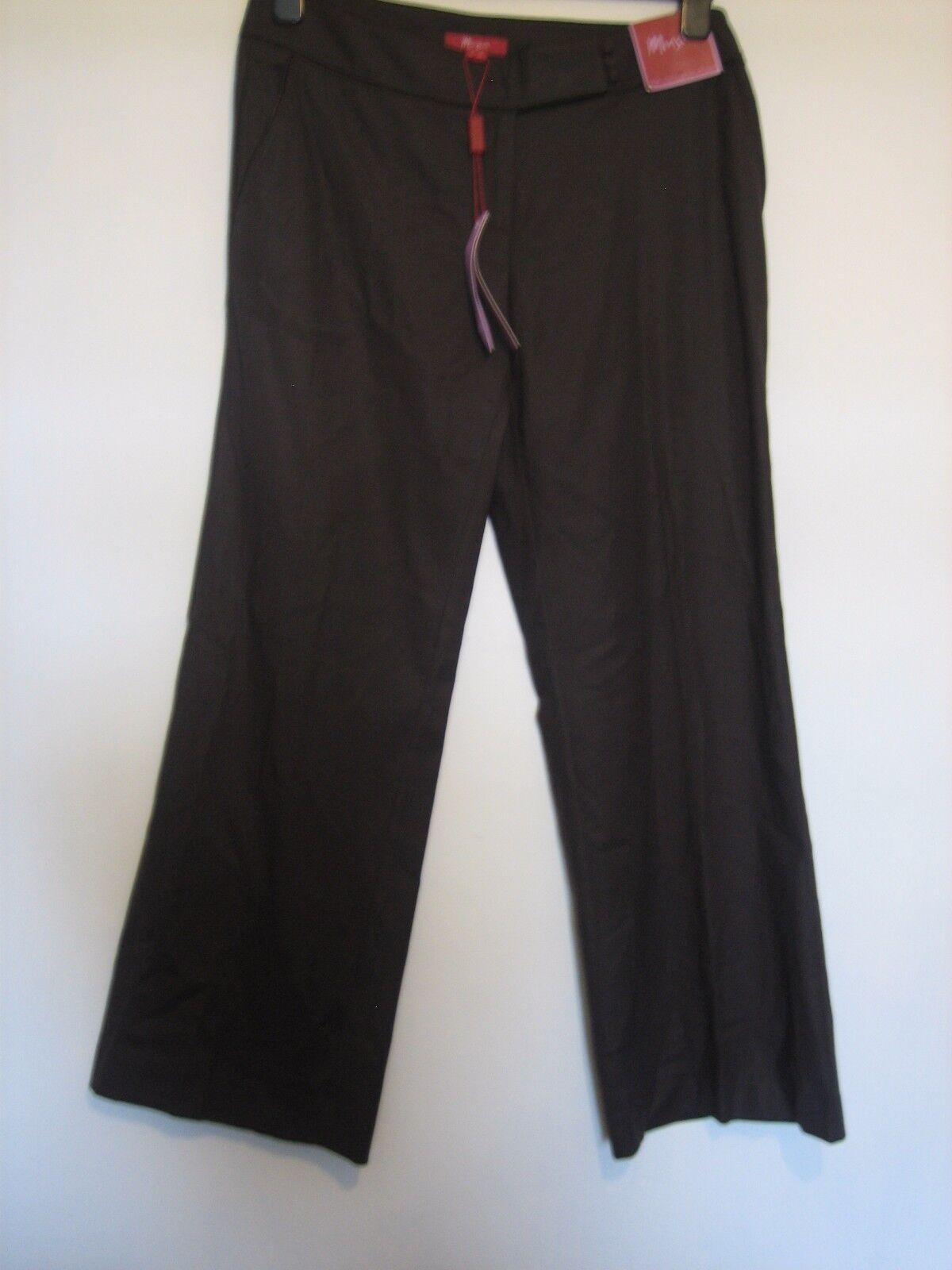 PP50) ( NEW ) WOMENS MONSOON BROWN BOOTCUT TROUSERS ZIP FLY WAIST 12s   LEG303