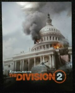 Double-sided-Promo-Poster-Tom-Clancy-039-s-the-Division-2-Xbox-One-Ps4-Rare-Ubisoft