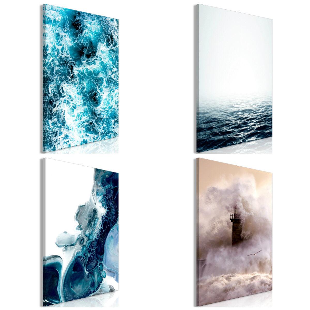 LEINWAND BILDER Meer Welle Landschaft Natur Bild Wandbilder Wohnzimmer 6 motiven