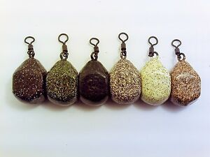 15-x-SQUARE-PEAR-DUMPY-DICE-2oz-2-5oz-3oz-Carp-Fishing-Leads-Weights-Smooth