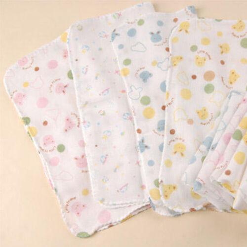 5 x 100/% Cotton Super Cute Baby Gauze Muslin Square Cloths 30X30cm Health Design