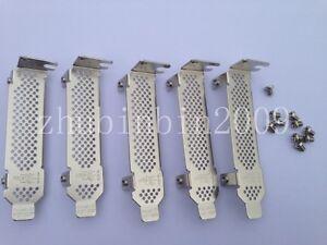Lot of 5 pcs Low Profile Bracket for IBM M1015, M5015, LSI 9260-8i HP P400 P410